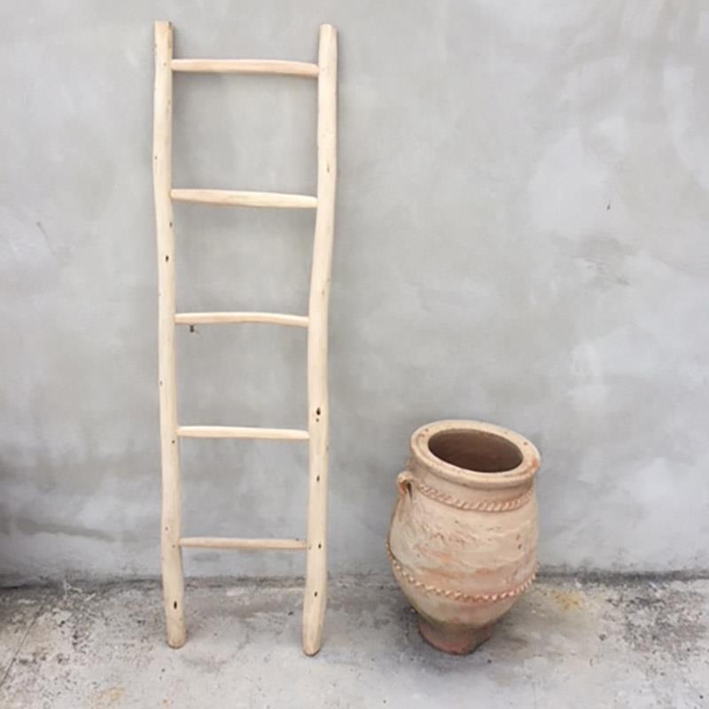 Porta Asciugamani Per Bagno In Legno.Porta Asciugamani Scala In Legno Grezzo Marocchino Ordina Online