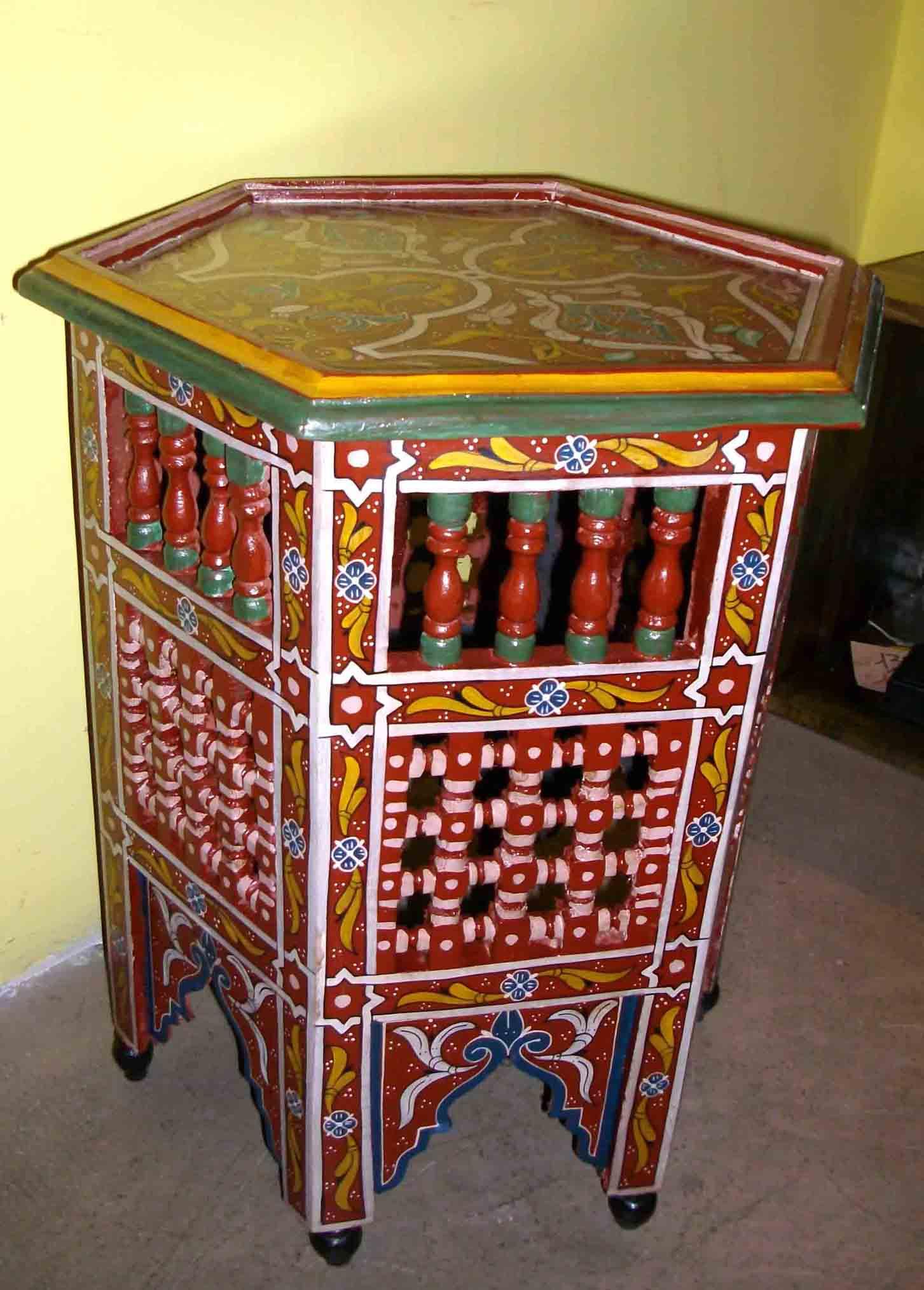 Tavolino marocchino mobili e complementi tavoli e tavolini in legno ferro zellige di - Mobili marocchini ...