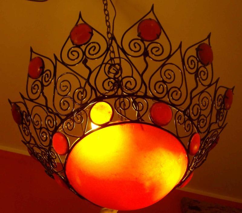 attacchi per lampadari : lampadario marocchino ferro e resina con attacco per due luci diam cm ...