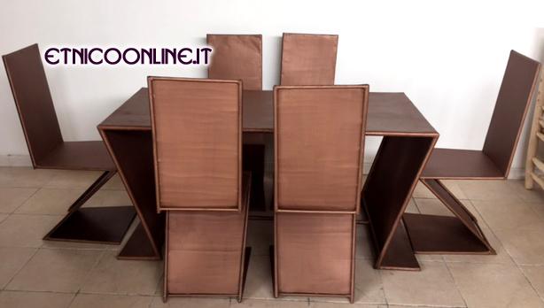 Tavolo marocchino con 6 sedie ordina online - Mobili marocchini ...
