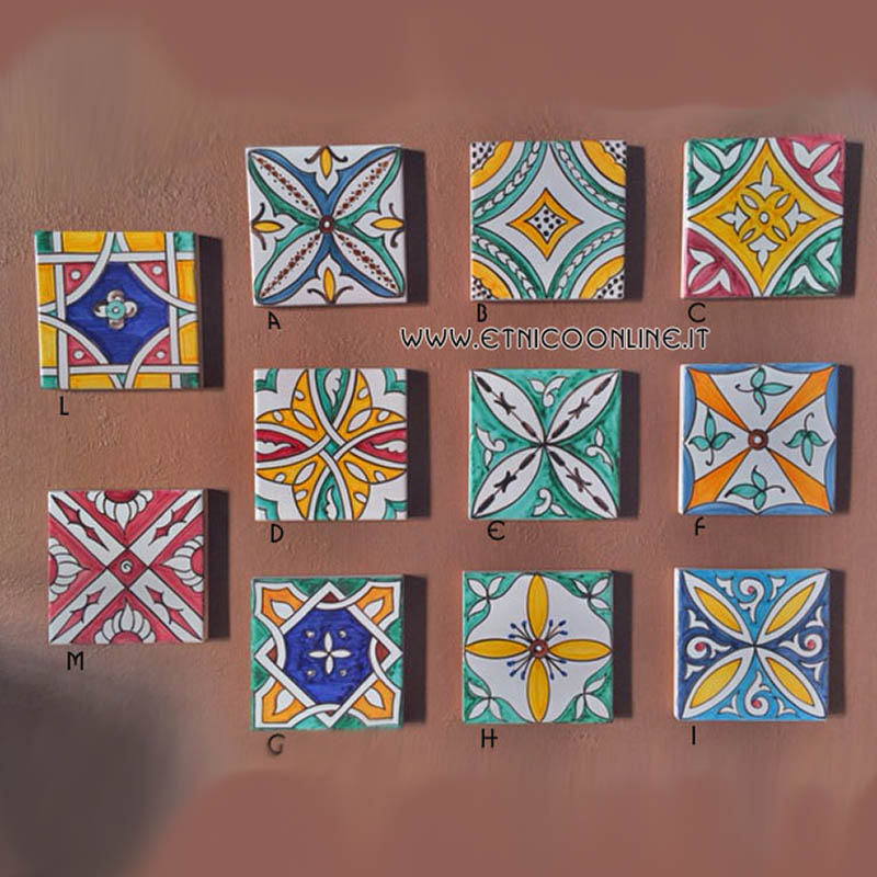 Ceramica vasi e piatti decorati di artigianato marocco articoli e prodotti etnici marocchini e - Mattonelle in ceramica decorate ...