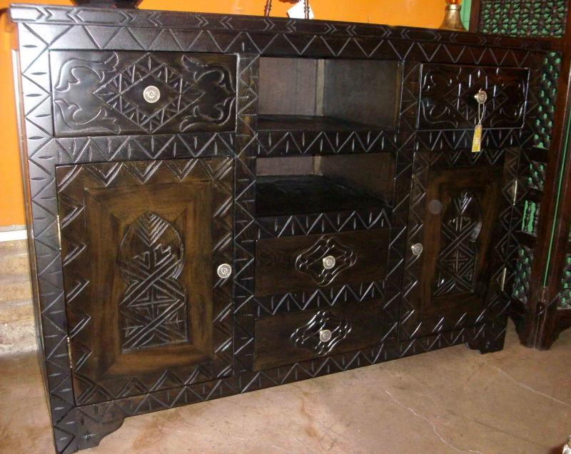 Buffet marocchino mobili e complementi mobili marocchini in legno di artigianato vulcano - Mobili marocchini ...