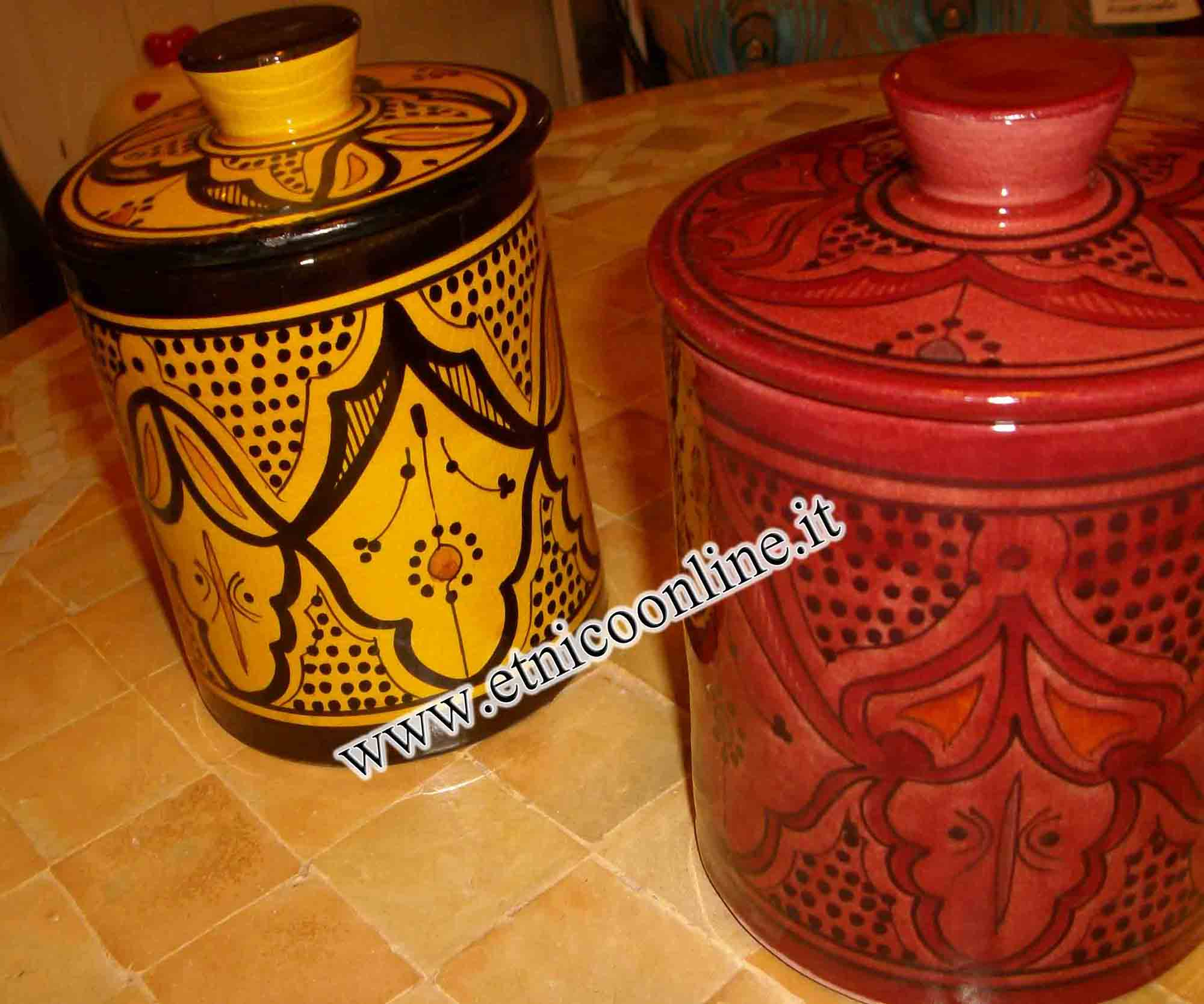 Barattoli marocchini oggettistica accessori da cucina for Oggettistica cucina online