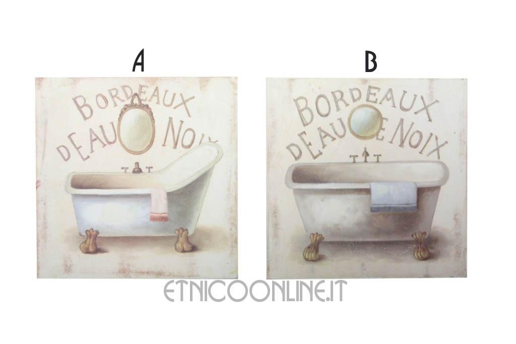 Quadretti da bagno oillestore set quadretti country vasca da bagno milowcost casas de alquiler - Quadri da appendere in bagno ...