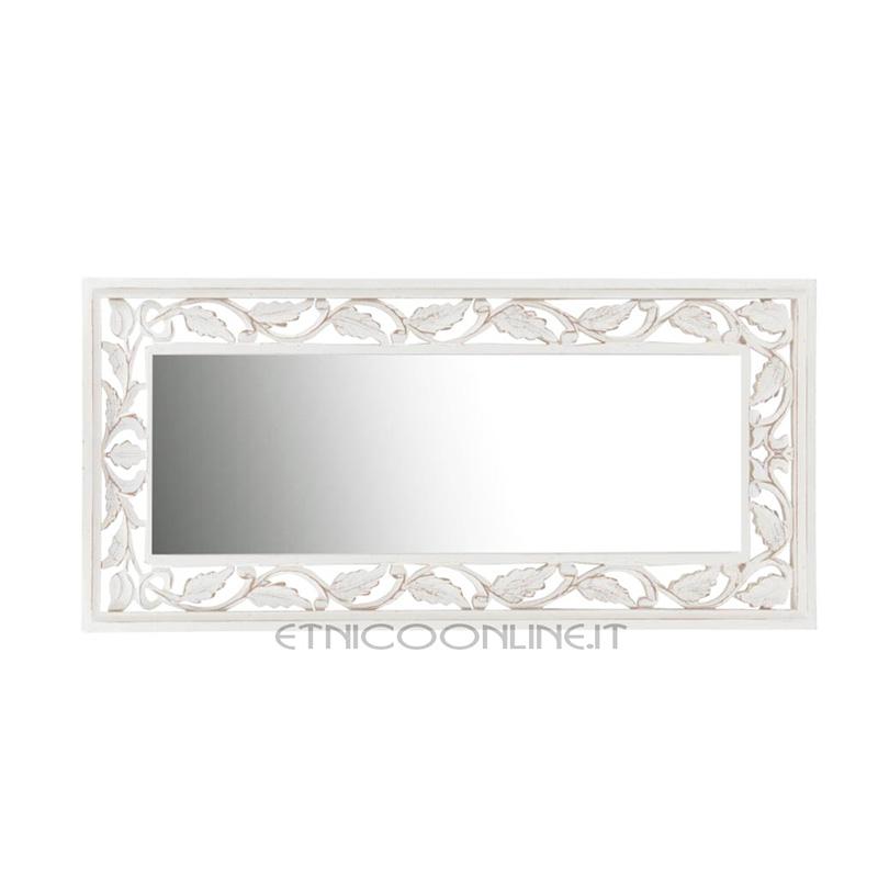 Specchio foglia ordina online for Specchio a muro senza cornice