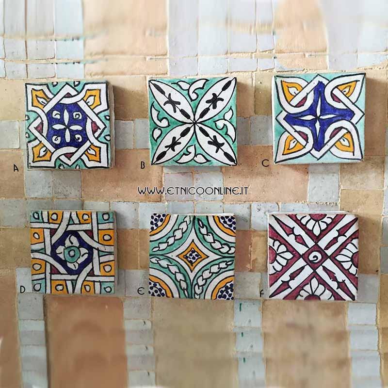 Ceramica vasi piatti di artigianato marocco articoli e prodotti etnici marocchini e orientali - Mattonelle in ceramica decorate ...